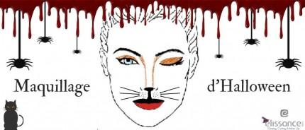 Maquillage d'Halloween facile et rapide à faire en moins de 10 minutes