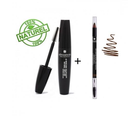 Pack : Le Mascara Naturel + Liner Signature Brow Definition - Brown